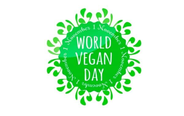 World vegan day badge