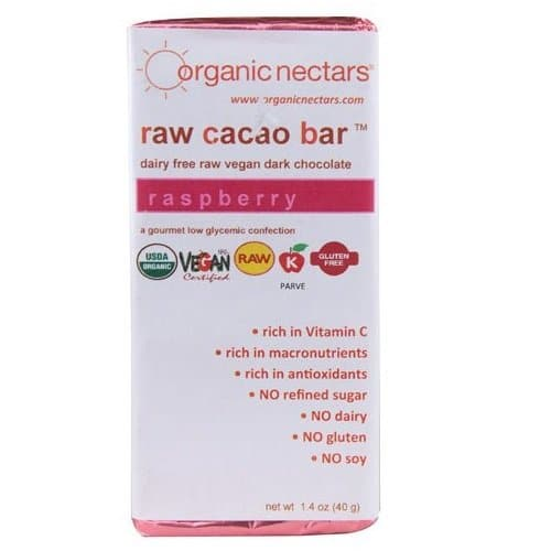 Organic Nectars Raw Raspberry Chocolate Bar