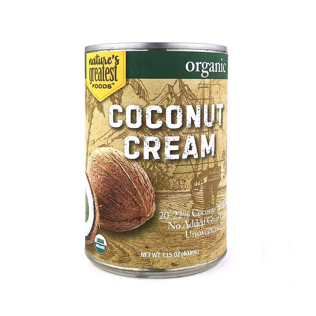 canned coconut cream