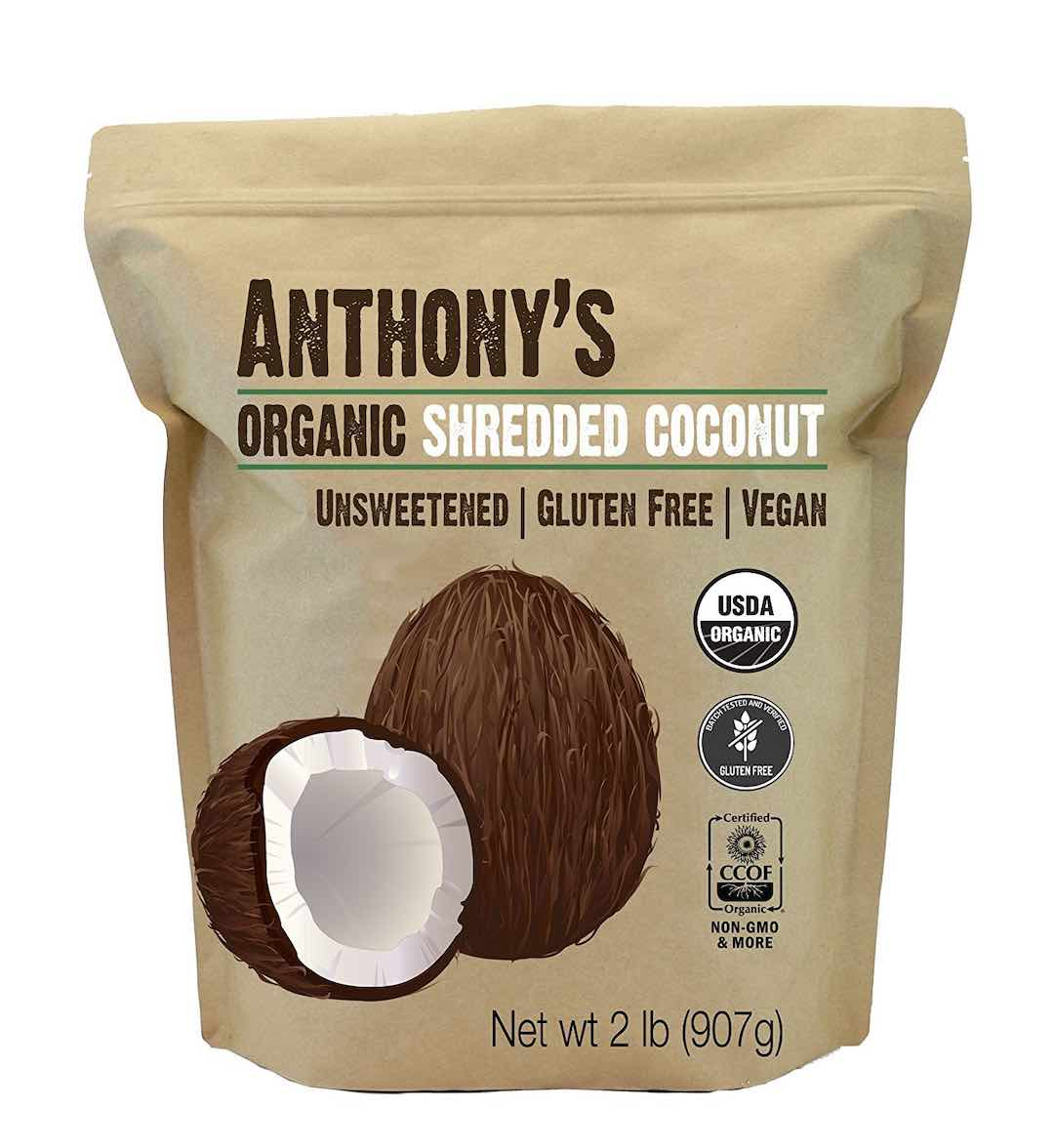 Anthony's Organic Shredded Coconut