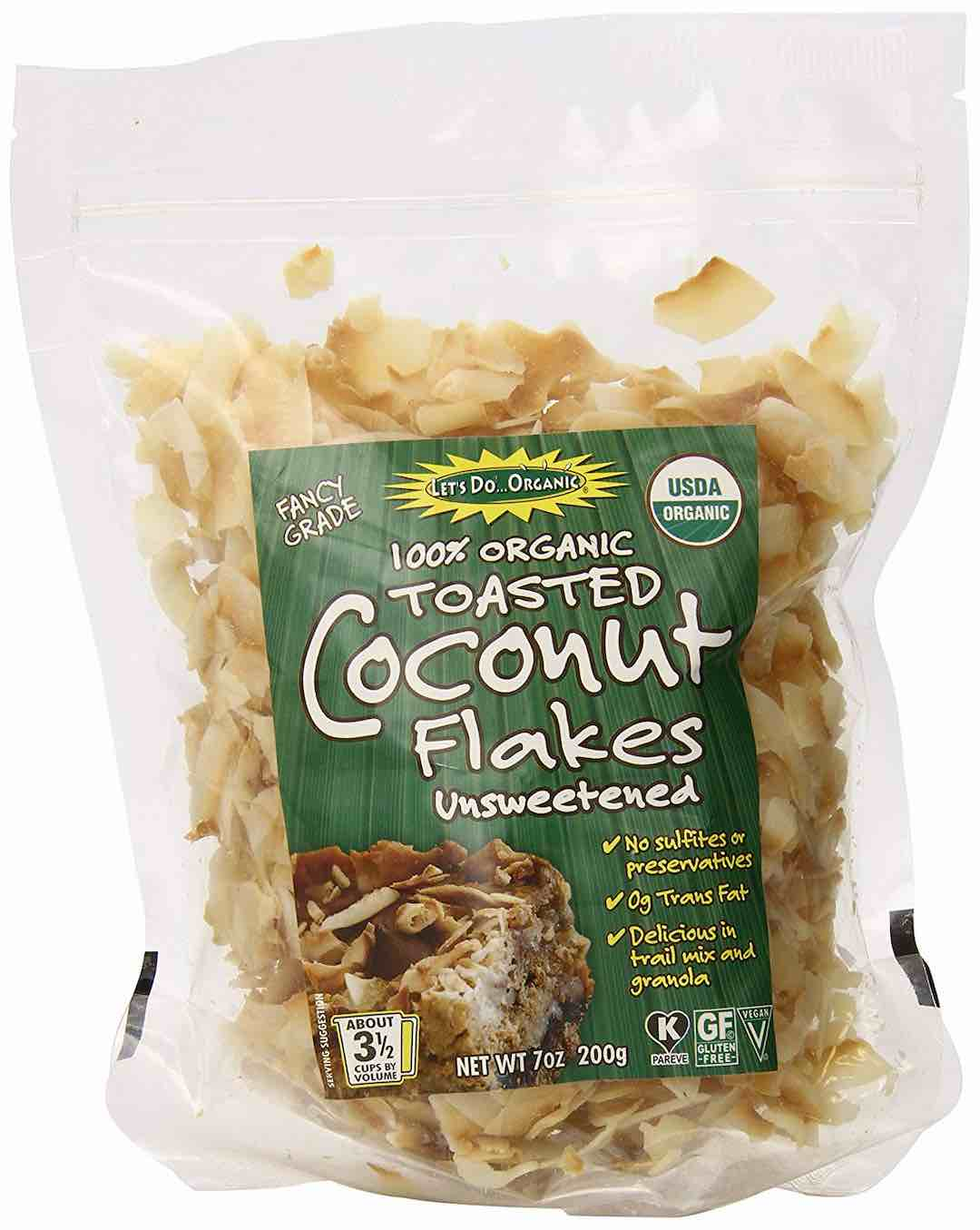 Let's Do Organic Unsweetened Toasted Coconut Flakes