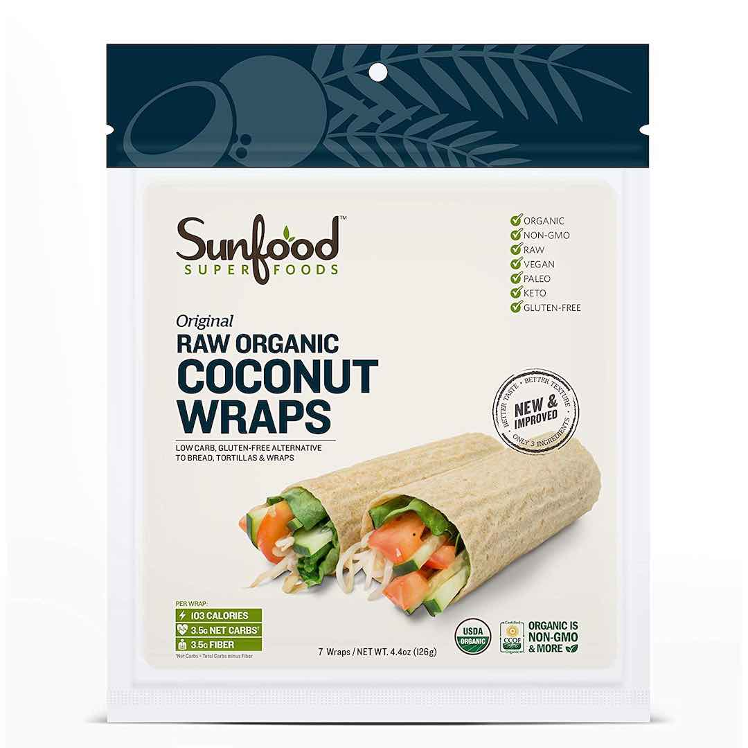Sunfood Superfoods Original Coconut Wraps